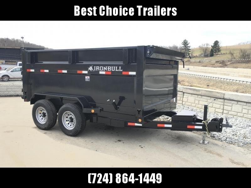 2018 Iron Bull 7x14' 4' HIGH SIDE Dump Trailer 14000# GVW * 4' HIGH SIDES * RAMPS * TARP * SCISSOR * TUBE JACKSTANDS * 12K JACK