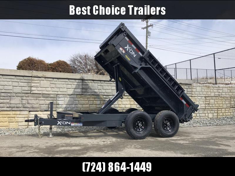 2019 X-on 6X10' Low Profile Dump Trailer 9990# GVW * TARP KIT * SCISSOR * 3 WAY GATE * 10 GA SIDES & FLOOR * 110V CHARGER * CAST COUPLER * DROP LEG JACK in Ashburn, VA