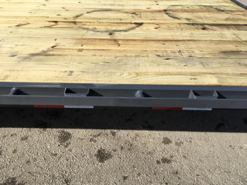 2019 Lamar F8 102x24' Beavertail Deckover Trailer 14000# GVW FLIPOVER RAMPS