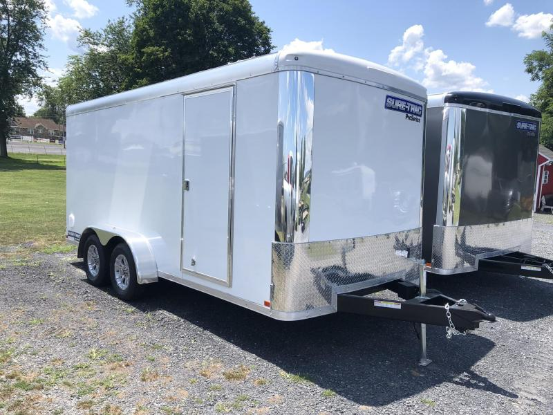 2019 Sure-Trac 7x16' Enclosed Cargo Trailer 7000# GVW * SCREWLESS EXTERIOR  * ROUND TOP * ALUMINUM WHEELS