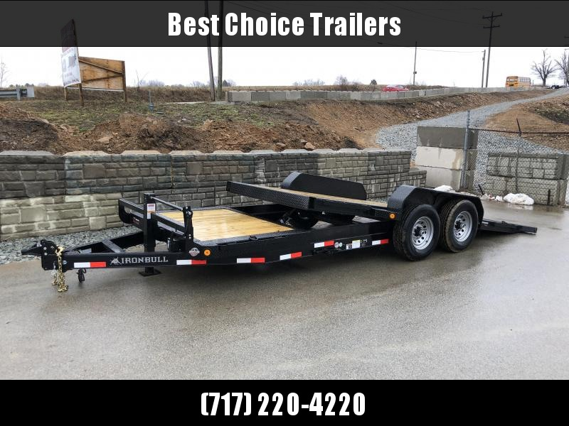 2018 Ironbull 7x16+4 Gravity Tilt Equipment Trailer 14000# TORSION * STOP VALVE * FREE ALUMINUM WHEELS