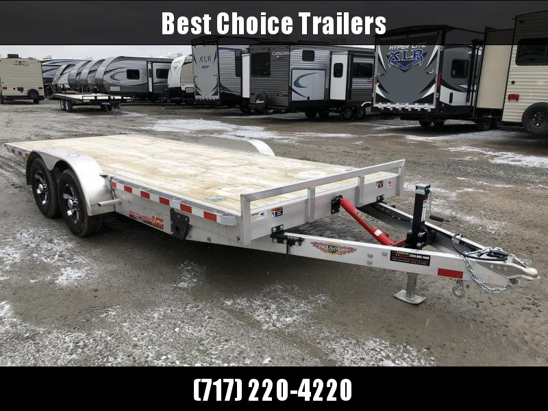 2018 H&H 7x18' Manual Tilt Aluminum Car Hauler 9990# GVW