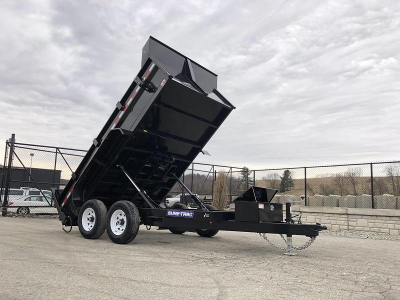 2019 Sure-Trac 7x12' LowPro Dump Trailer 9900# * DUAL PISTON - BASE