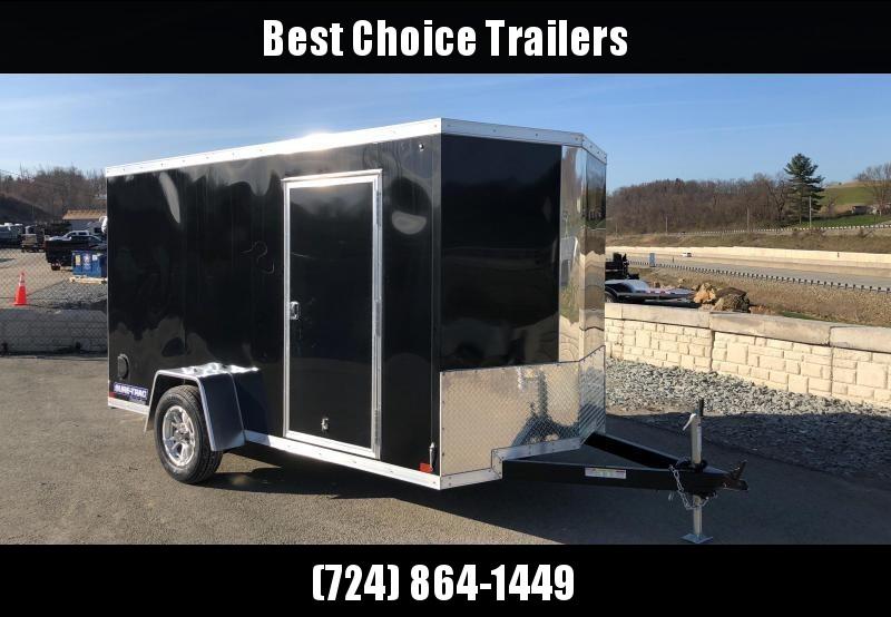 USED 2018 Sure-Trac 6x12' STW Enclosed Cargo Trailer 2990# GVW * BLACK * RAMP DOOR