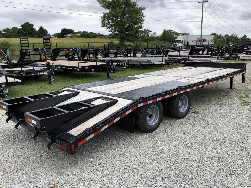 2018 Sure-Trac 102x20+5 22K Pintle Beavertail Deckover Trailer Pierced Frame OAK DECK & RAMPS PAVER TRAILER * HUTCH SUSPENSION * 12 D-RINGS * TOOLBOX * OAK RAMPS/TAIL/DECK * 2ND JACK