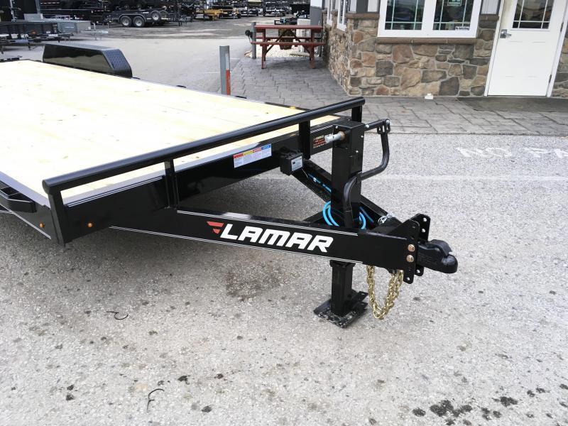 2019 Lamar 7x20' Equipment Trailer 14000# GVW * FULL WIDTH RAMPS * CHARCOAL