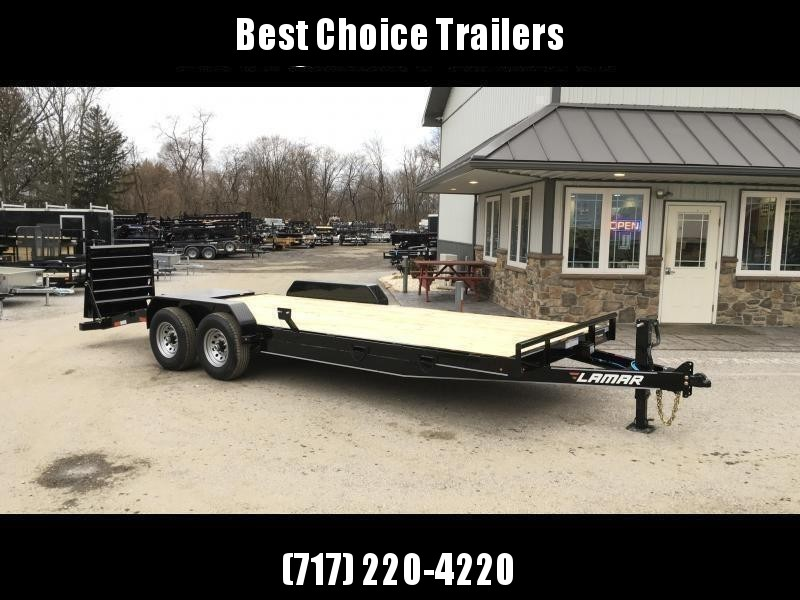 2019 Lamar 7x20' Equipment Trailer 14000# GVW * FULL WIDTH RAMPS * CHARCOAL