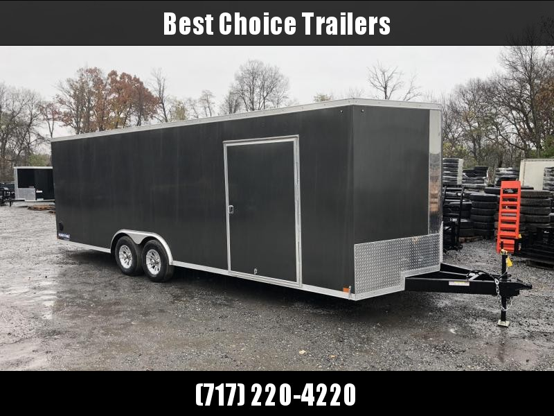 2019 Sure-Trac 8.5x24' 9900# STWCH Commercial Enclosed Cargo Trailer * V-NOSE * RAMP DOOR * CHARCOAL * ALUMINUM WHEELS