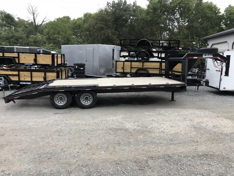 USED 2018 Appalachian 102x16+4' Gooseneck Beavertail Deckover Pop Up Dovetail 9990# GVW