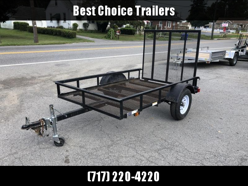USED 2019 Carry-On 5x8' Utility Landscape Trailer