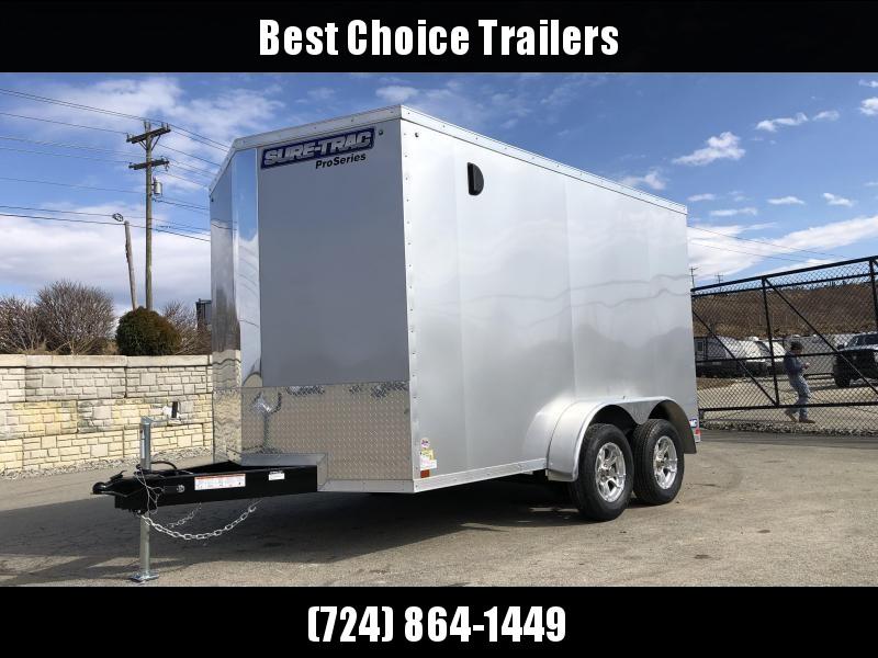 2019 Sure-Trac 7x14' Enclosed Cargo Trailer 7000# GVW * SILVER