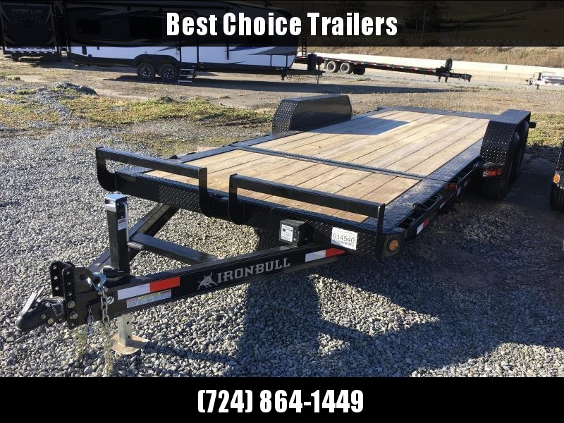 2018 Iron Bull 7x16+4' Tilt Equipment Trailer 9990# GVW - STOP VALVE TORSION AXLES * CLEARANCE - FREE ALUMINUM WHEELS