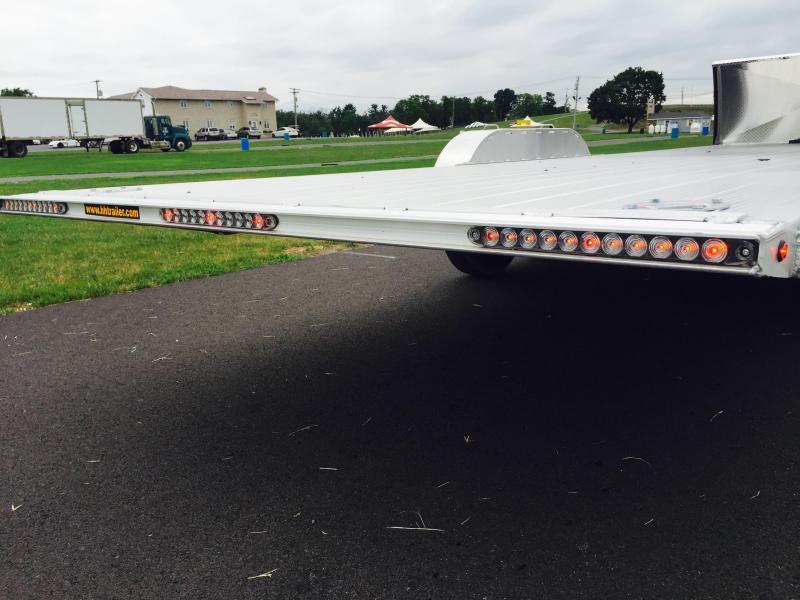 2018 H&H 7x24 14000# Power Tilt Equipment Trailer EXA LOADED