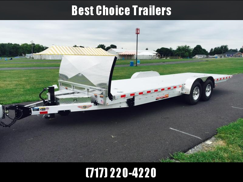2018 H&H 7x24 14000# Power Tilt Equipment Trailer EXA LOADED