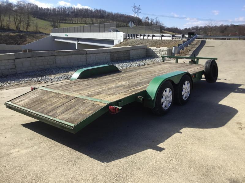 USED 1995 Noncom 7x18\' Wood Deck Car Trailer 10000# GVW | Best ...
