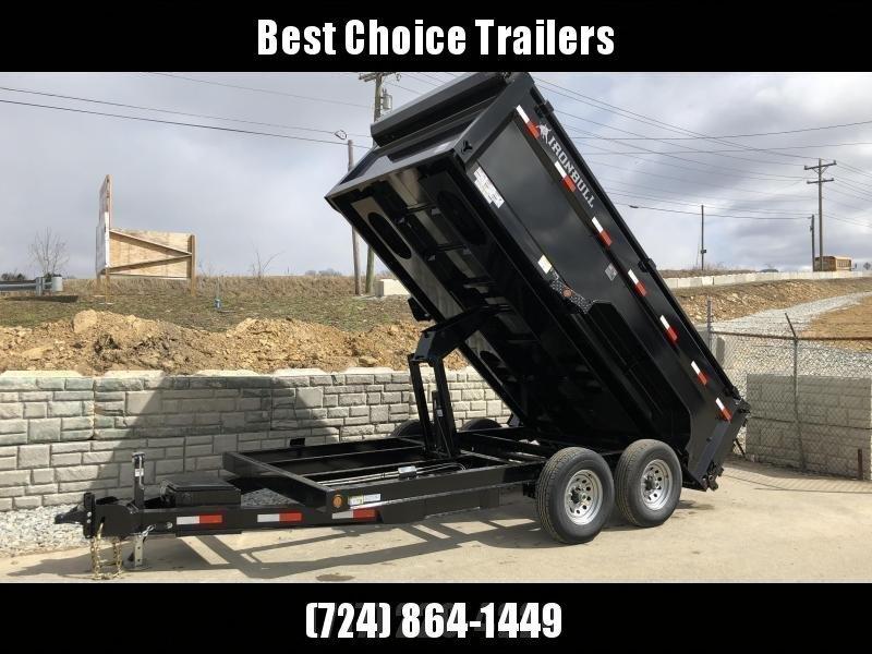 2018 Ironbull 7x14' 3' HIGH SIDES Dump Trailer 14000# GVW RAMPS * TARP * SCISSOR * TUBE JACK STANDS * SPARE MOUNT