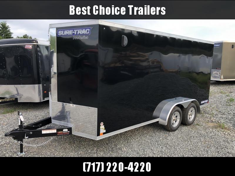 2018 Sure-Trac 7x16' Enclosed Cargo Trailer 7000# GVW * BLACK in Ashburn, VA