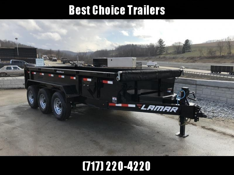 2019 Lamar 7x16' Dump Trailer 21000# GVW * TARP * RAMPS* 12K JACK 2 SPEED * 14-PLY RUBBER * REAR SUPPORT STANDS * VOLTAGE METER * 14-PLY SPARE