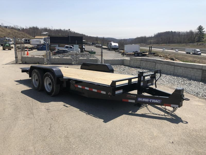2019 Sure-Trac 7x18' Gravity Tilt Equipment Trailer 16000# GVW * 8000# AXLES