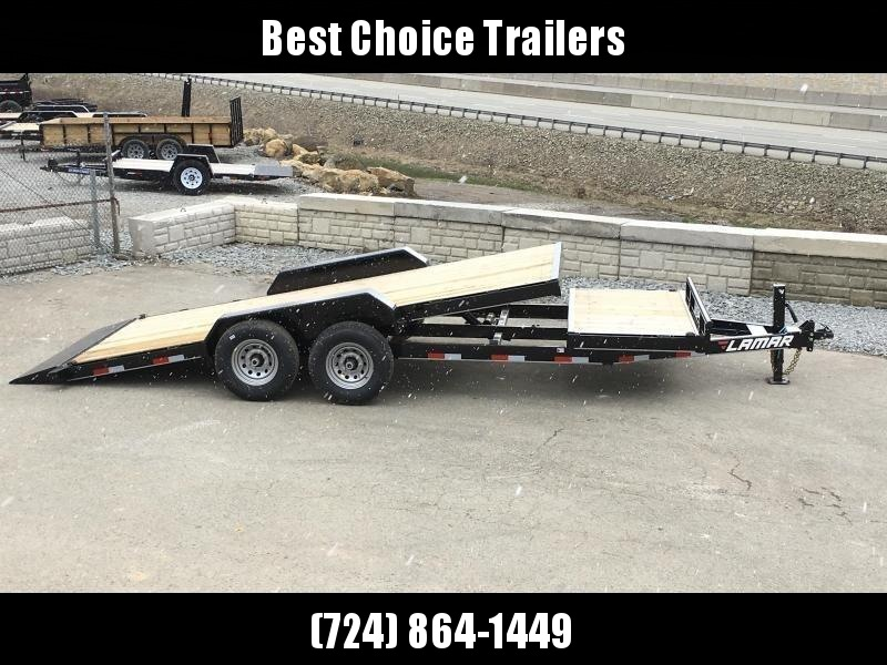 2018 Lamar Gravity Tilt Equipment Trailer 7x16+4 14000# GVW Torsion * Stop Valve