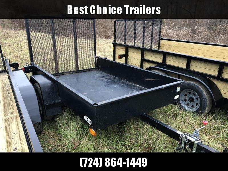 USED 2003 Car Mate 5x8' Solid Side Utility Landscape Trailer 2990# GVW