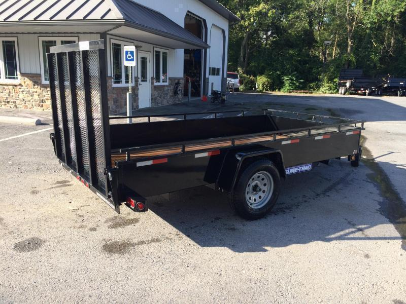 USED 2018 Sure-Trac 6x10' Steel High Side Utility Trailer 2990# GVW * SPARE TIRE
