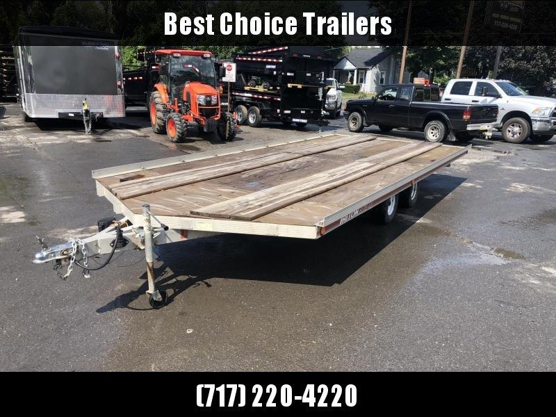 USED Triton 102x18' Aluminum Deckover Trailer 4400# GVW * TANDEM AXLE * ALUMINUM FRAME * TORSION * BRAKES