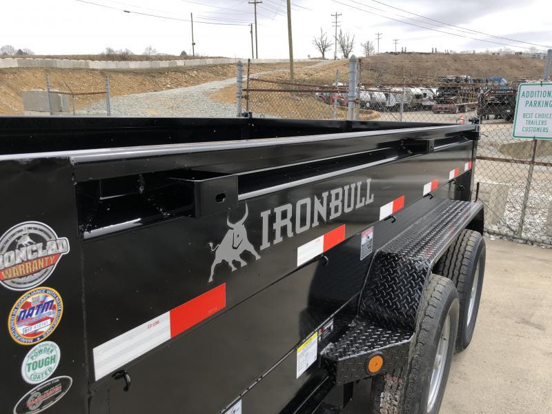 2018 Iron Bull 7x12' Dump Trailer 14000# GVW RAMPS * TARP * SCISSOR * CLEARANCE - FREE ALUMINUM WHEELS