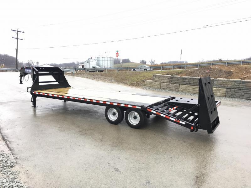 2019 Sure-Trac 102x20+5 17600# Gooseneck Beavertail Deckover Trailer 8K AXLE UPGRADE * PIERCED FRAME * FULL WIDTH RAMPS
