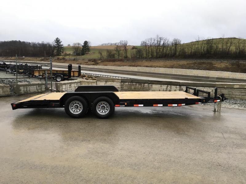 2019 Iron Bull 7x20' Wood Deck Car Trailer 9990# GVW