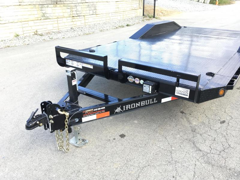 """2019 Iron Bull 102""""x20' Steel Deck Car Trailer 9990# GVW * 102"""" DECK * DRIVE OVER FENDERS * BUGGY HAULER * STEEL DECK * HD FRAME * BLACK(ED) OUT FRIDAY SPECIAL - FREE ALUMINUM WHEELS"""