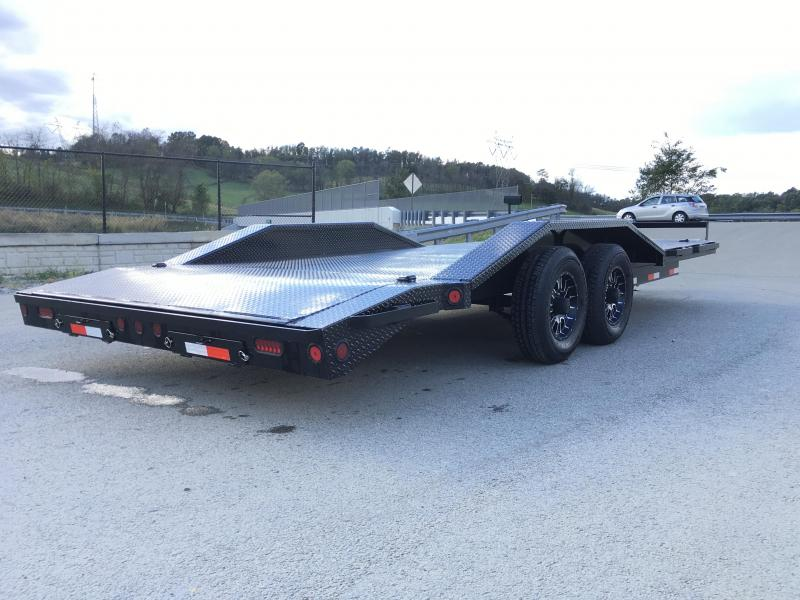 "2019 Iron Bull 102""x20' Steel Deck Car Trailer 9990# GVW * 102"" DECK * DRIVE OVER FENDERS * BUGGY HAULER * STEEL DECK * HD FRAME * PROMOTIONAL WHEELS"