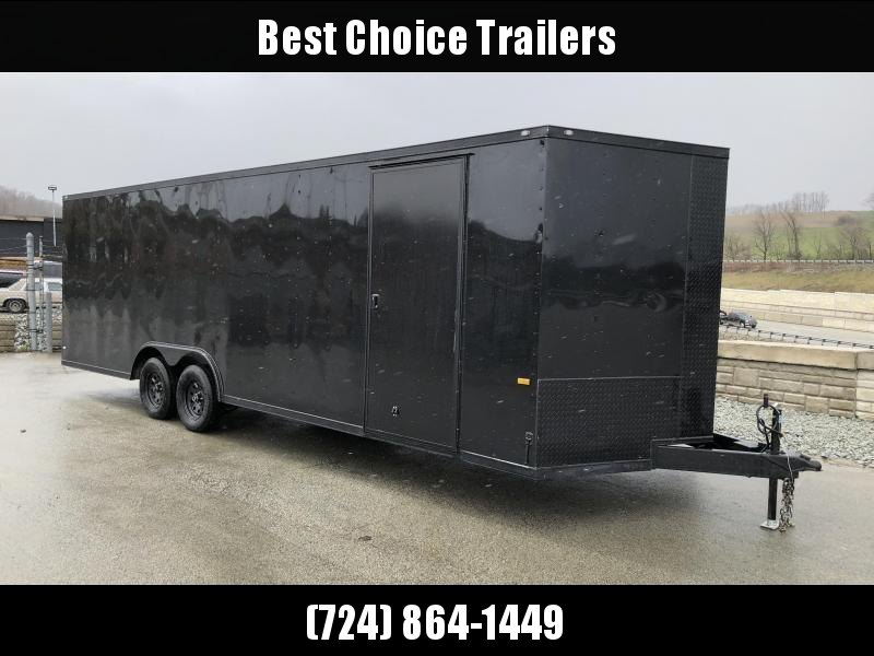 2018 Rock Solid 8.5x20' Enclosed Car Trailer 7000# GVW - BLACKOUT PACKAGE