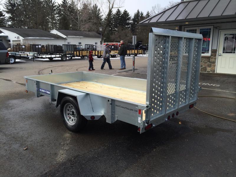 2018 Sure-Trac 6x12' Galvanized High Side Utility Trailer 2990# GVW