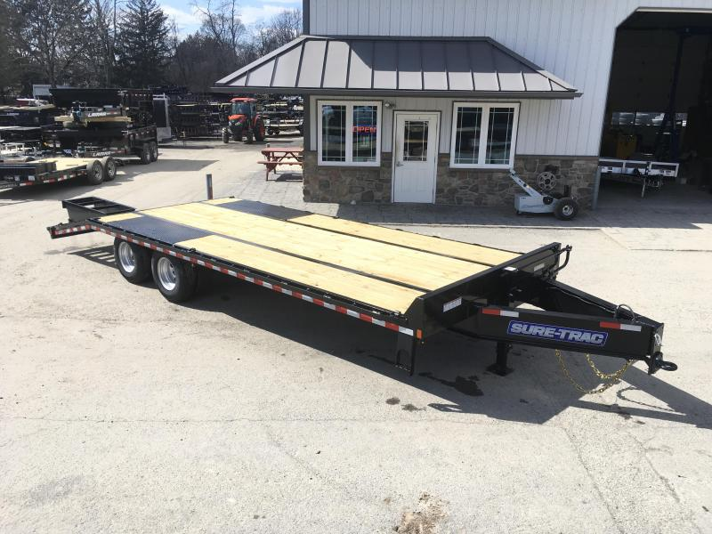 2018 Sure-Trac 102x20+5 22K Pintle Beavertail Deckover Trailer Pierced Frame