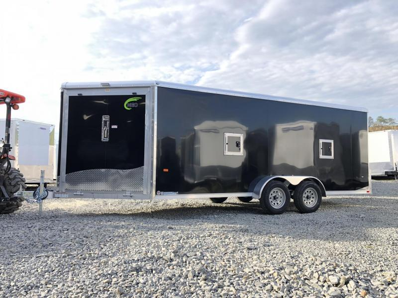 2019 Neo 7x22' NASR Aluminum Enclosed All-Sport Trailer * DELUXE MODEL * BLACK * UTV * ATV * Motorcycle * Snowmobile