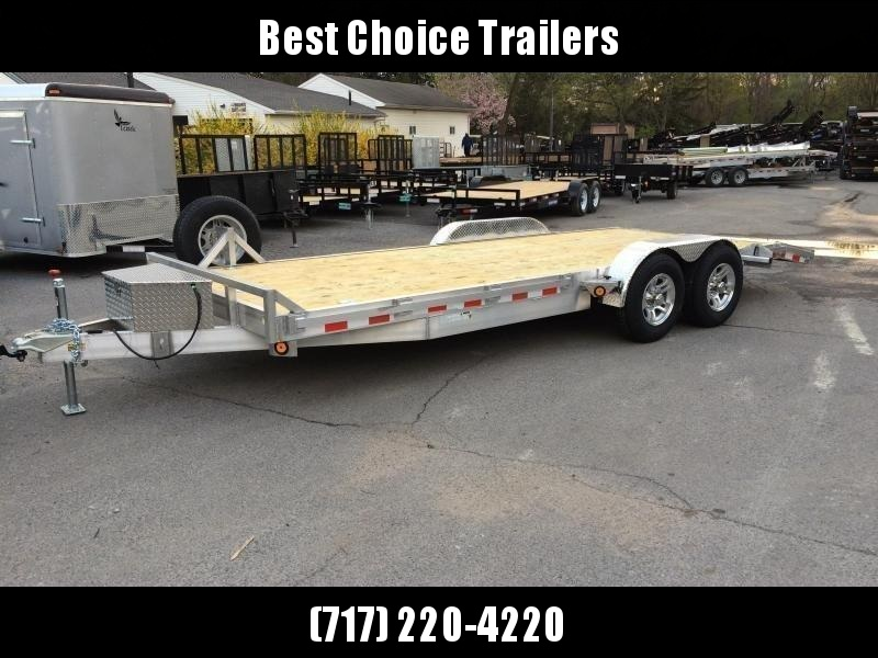 2019 QSA 7x20' Aluminum Car Trailer 9850# GVW