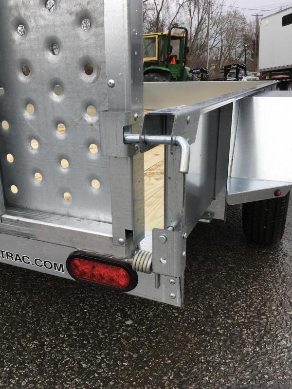 2018 Sure-Trac 5x10' Galvanized High Side Utility Trailer 2990# GVW * CLEARANCE - FREE ALUMINUM WHEELS