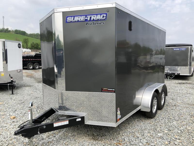 2018 Sure-Trac 7x12' Enclosed Cargo Trailer 7000# GVW