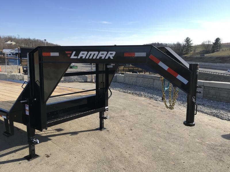 2018 Lamar 102x20+4' Gooseneck Beavertail Deckover Trailer 14000# STAND UP RAMPS * CHARCOAL