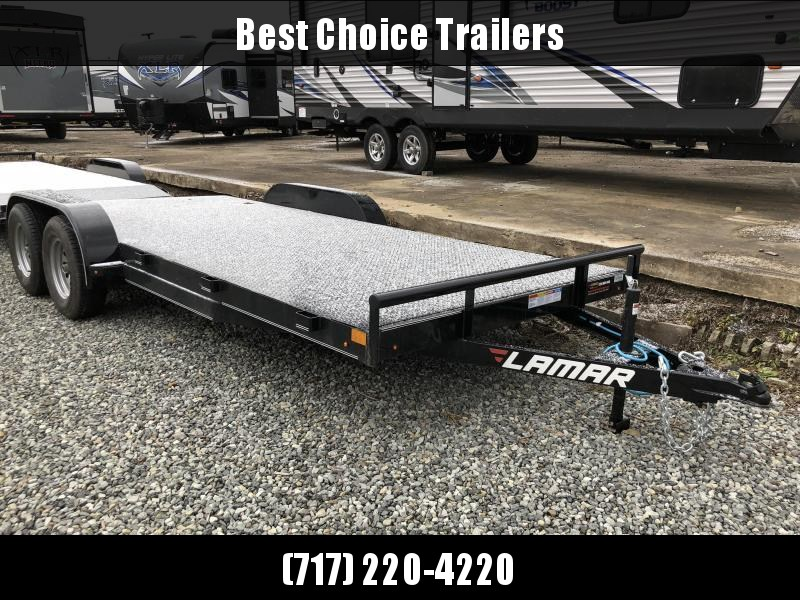 2018 Lamar 7x18' Steel Deck Car Trailer 7000# GVW * 11GA STEEL DECK * CHARCOAL * 4 D-RINGS