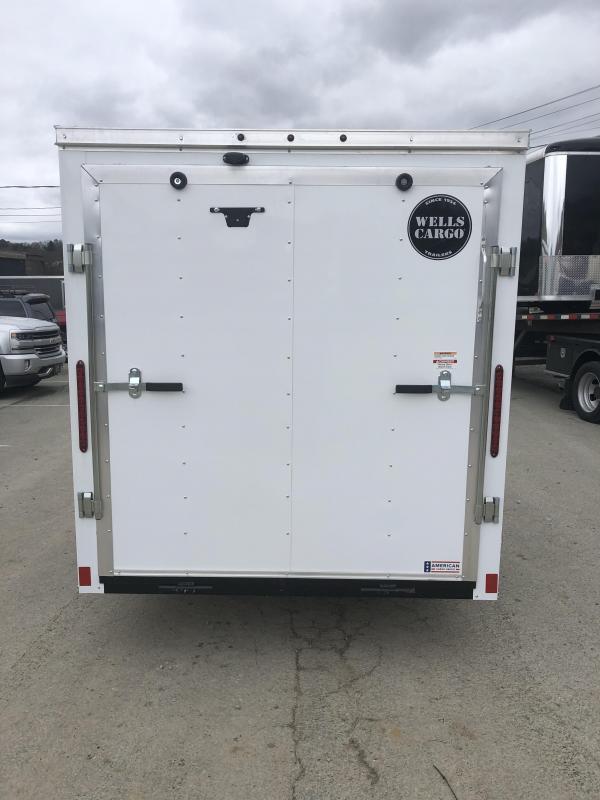 2019 Wells Cargo 6x12' Fastrac Enclosed Cargo Trailer 2990# GVW * WHITE EXTERIOR * RAMP DOOR