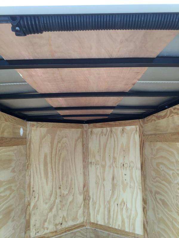 2018 Rock Solid 5x8' Enclosed Cargo Trailer 2990# GVW * WHITE