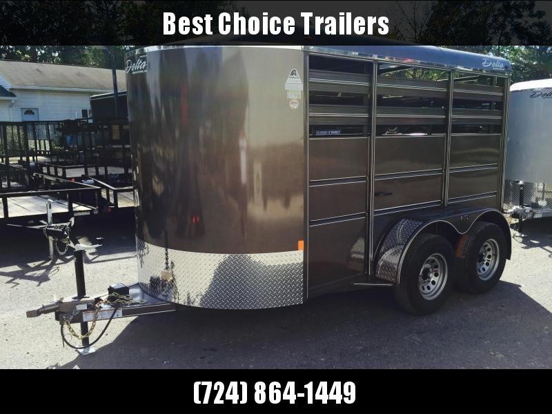 2018 Delta 12' Livestock Trailer 500ES Beige * CLEARANCE - FREE ALUMINUM WHEELS