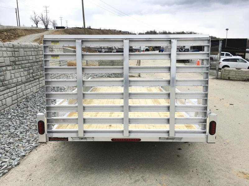 2019 QSA 7x14' Aluminum ATV SIDES RAMPS Landscape Utility Trailer 2990# GVW