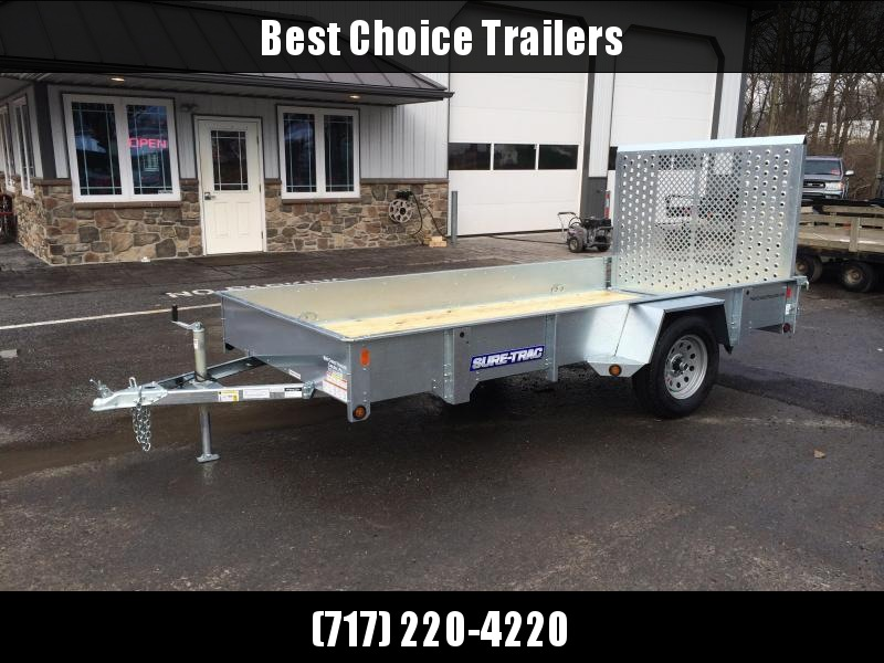 2018 Sure-Trac 6x12' Galvanized High Side Utility Trailer 2990# GVW