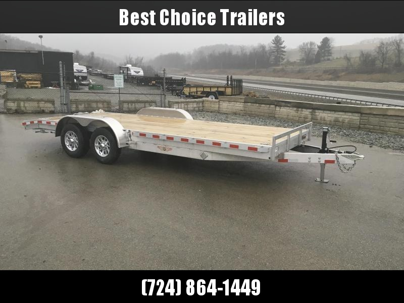 2018 H&H 7x18' Aluminum Car Trailer 9990# GVW - TORSION AXLES