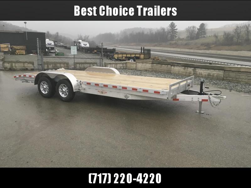2018 H&H 7x18' Aluminum Car Trailer 9990# GVW * TORSION DROP AXLES * SWIVEL D-RINGS * EXTRA STAKE POCKETS  * ALUMINUM WHEELS * CLEARANCE in Ashburn, VA