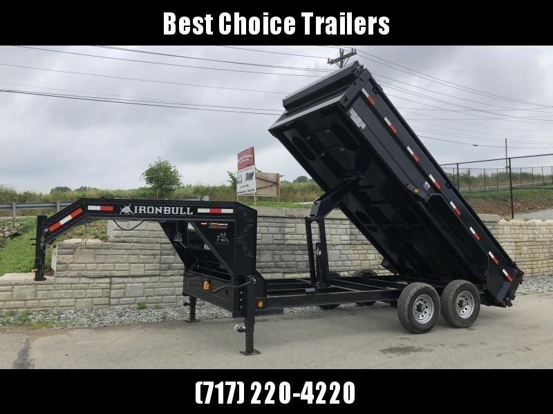 """2019 Ironbull 7x14' Gooseneck Dump Trailer 14000# GVW * RAMPS * TARP * SCISSOR * I-BEAM FRAME * 6"""" BEDFRAME * 2PC 10GA BED & WALLS"""