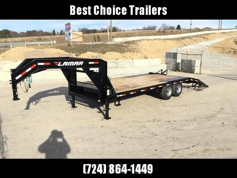 2018 Lamar 102x20+4' Gooseneck Beavertail Deckover Trailer 14000# STAND UP RAMPS